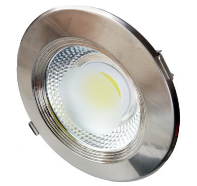 Spot intérieur Led 20W Rond, Blanc froid - INOX