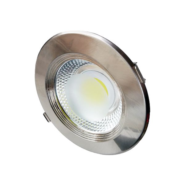 Spot intérieur Led 30W Rond, Blanc froid - INOX class=