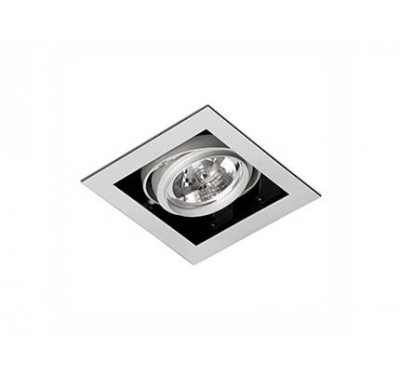 Spot encastrable Gingko Gris 100 Watts G53 1 lumières