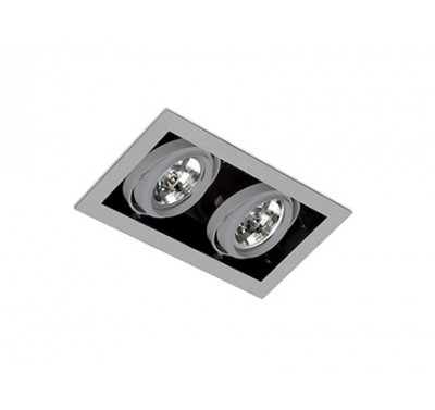 Spot encastrable Gingko Gris 100 Watts G53 2 lumières