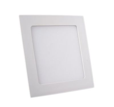 Plafonnier Led 12W Carré Blanc Chaud