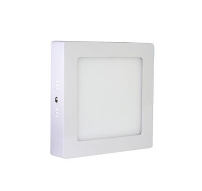 Plafonnier Led 12W en surface Carré Blanc naturel