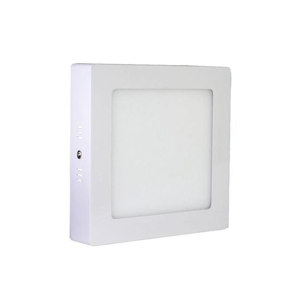 Plafonnier Led 12W en surface Carré Blanc Chaud class=
