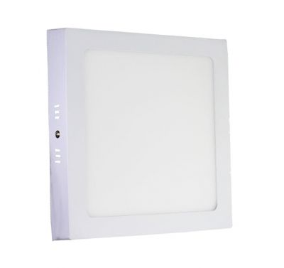 Plafonnier Led 18W en surface Carré Blanc Naturel