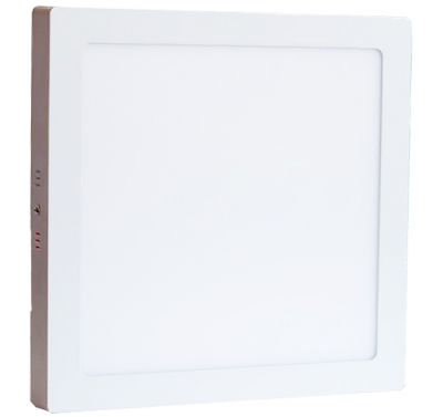 Plafonnier Led 24W en surface Carré Blanc Naturel