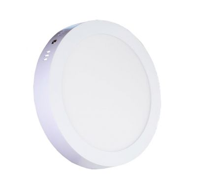 Plafonnier Led 18W en surface Rond Blanc Naturel