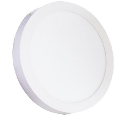 Plafonnier Led 24W en surface Rond Blanc froid