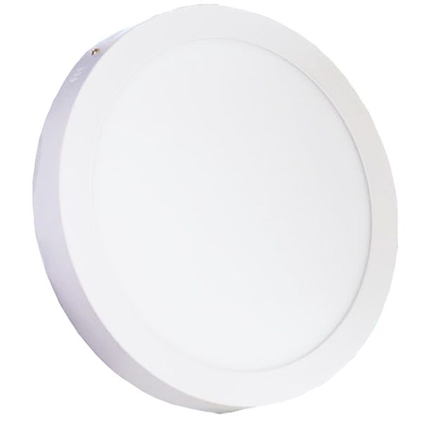 Plafonnier Led 24W en surface Rond Blanc froid class=