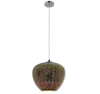 Lustre Motif 3D Feu d'artifice Chrome