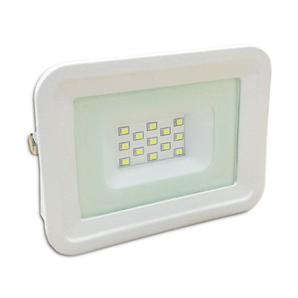 Projecteur Led 10W Ultra-fin SMD Classique Blanc Froid - IP65 class=