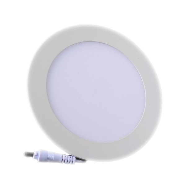 Plafonnier LED Rond Extra-plat 9W Blanc Naturel class=