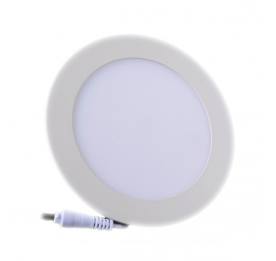 Plafonnier LED Rond Extra-plat 9W Blanc Froid