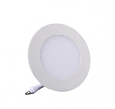 Plafonnier LED Rond Extra-plat 6W Blanc Naturel
