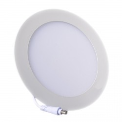 Plafonnier LED Rond Extra-plat 12W Blanc Froid