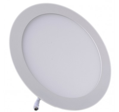 Plafonnier LED Rond Extra-plat 18W Blanc Naturel