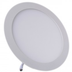 Plafonnier LED Rond Extra-plat 18W Blanc Froid