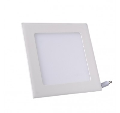 Plafonnier LED Carré Extra-plat 9W Blanc Naturel
