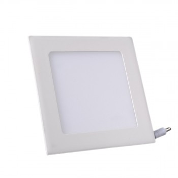 Plafonnier LED Carré Extra-plat 9W Blanc Froid