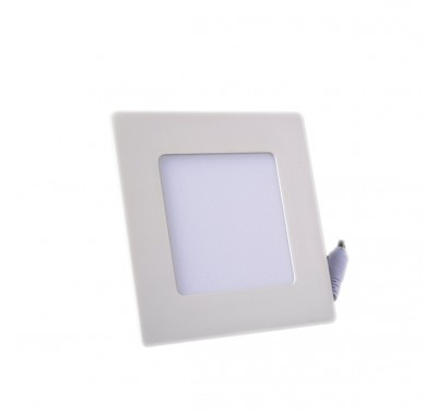 Plafonnier LED Carré Extra-plat 6W Blanc Naturel