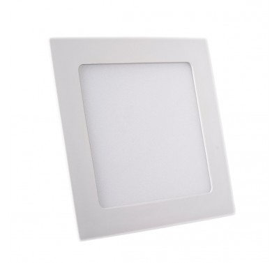 Plafonnier LED Carré Extra-plat 12W Blanc Naturel