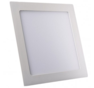 Plafonnier LED Carré Extra-plat 18W Blanc Naturel