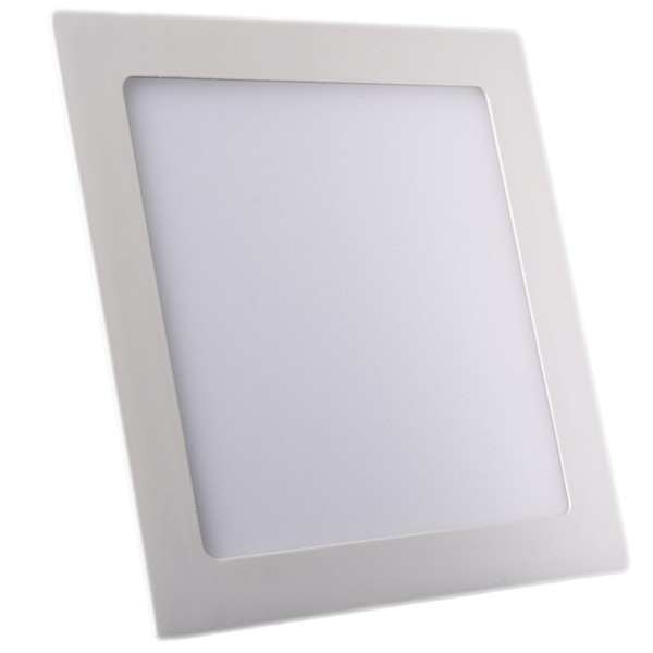 Plafonnier LED Carré Extra-plat 18W Blanc Naturel class=