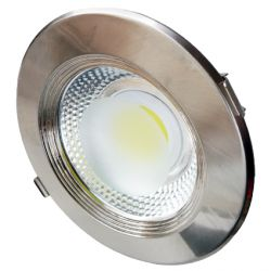 Spot intérieur Led 10W Rond, Blanc froid - INOX