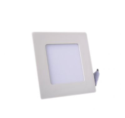 Plafonnier Led 6W Carré Blanc Chaud