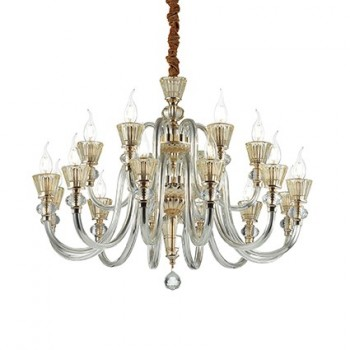 Lustre Strauss E14 Finition Chrome 18 lumières