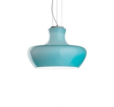 Suspension Aladino Couleur Bleu Azzure Diamètre 30 cm E27 60 Watts
