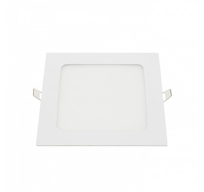 Plafonnier Led Carré Extra-plat 6W - Blanc Naturel