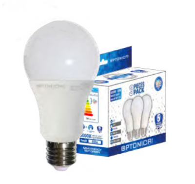 3 Ampoules LED E27 12W Blanc Froid