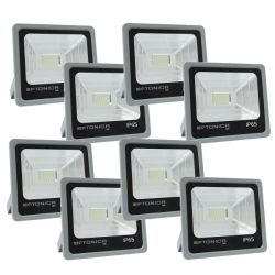 Lot de 8 Projecteurs Led 50W Ultrafin SMD PREMIUM Blanc Naturel - IP65