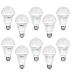 Lot de 10 Ampoules Standard LED E27 5W Blanc Chaud