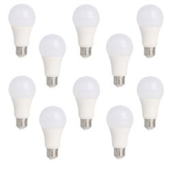 Lot de 10 Ampoules LED E27 15W Blanc Chaud
