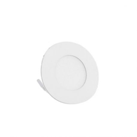 Plafonnier Led Rond Extra-plat 3W - Blanc Froid