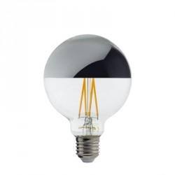 Ampoule Led Bulb G95 Filament E27 7 Watts Verre fumé Couleur Or