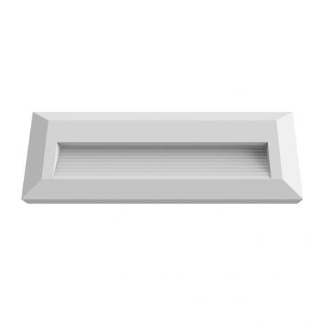 Applique Escalier Rectangle 3W blanc
