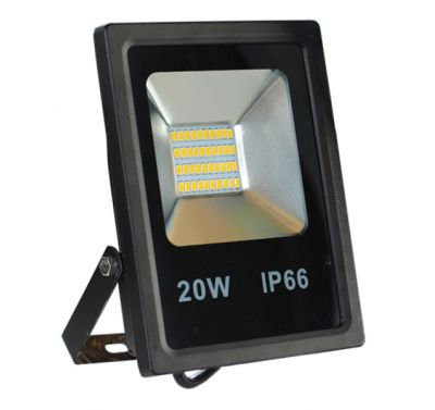 Projecteur Led 20W Ultra-fin SMD Blanc Chaud - IP65