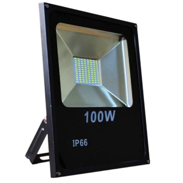 projecteur led 100w ultra fin smd blanc froid ip66 695. Black Bedroom Furniture Sets. Home Design Ideas