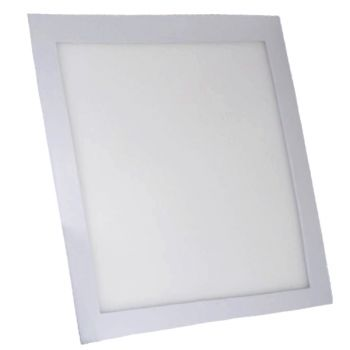 Plafonnier Led 24W Carré Blanc Naturel
