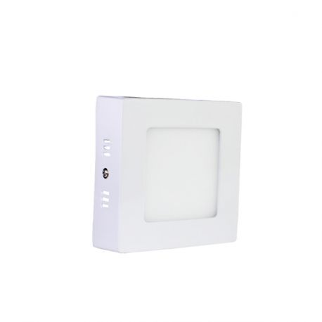 Plafonnier Led 7W en surface Carré Blanc Froid