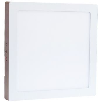 Plafonnier Led 24W en surface Carré Blanc Chaud