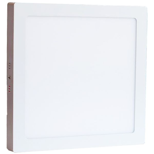 Plafonnier Led 24W en surface Carré Blanc Chaud class=