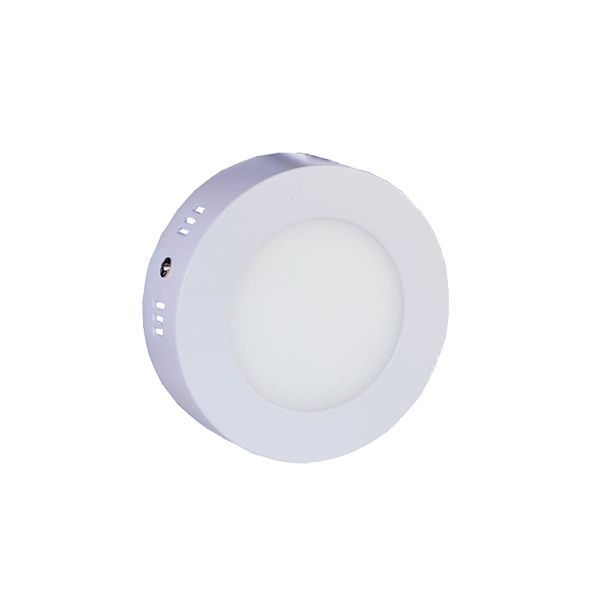 Plafonnier Led 7W en surface Rond Blanc Chaud class=