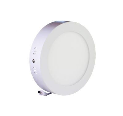 Plafonnier Led 12W en surface Rond Blanc Chaud
