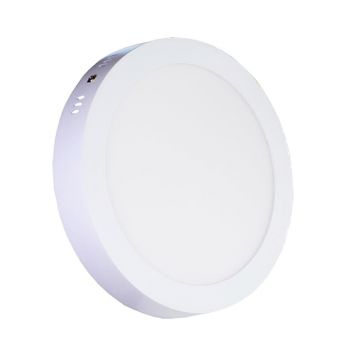 Plafonnier Led 18W en surface Rond Blanc Chaud
