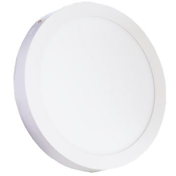Plafonnier Led 24W en surface Rond Blanc Chaud