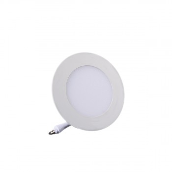 Plafonnier LED Rond Extra-plat 3W Blanc Froid