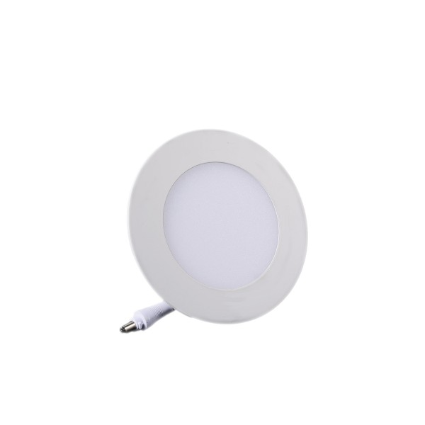 Plafonnier LED Rond Extra-plat 3W Blanc Froid class=